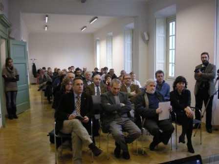 In prima fila da destra, i relatori: Silvia Cappellozza, Flavio Crippa e Silvio Faragò