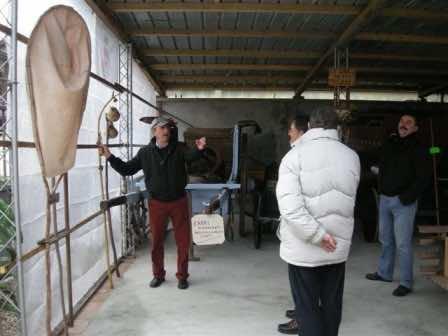 Pierangelo Boccalari nel suo Museo delle contadinerie, a Mede