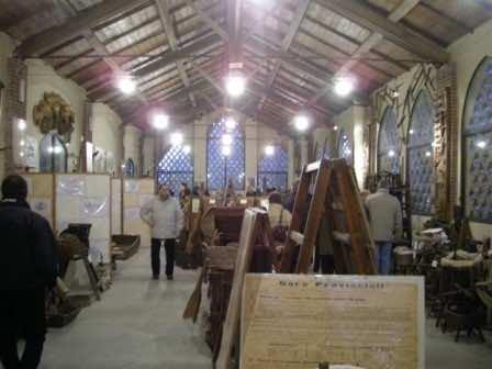 L'interno del Museo di arte e tradizione contadina di Olevano