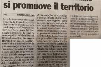 """La cesta lomellina su """"Il Monferrato"""""""
