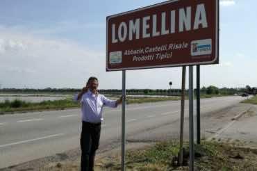"""Anche a Vigevano il cartello """"Lomellina"""""""