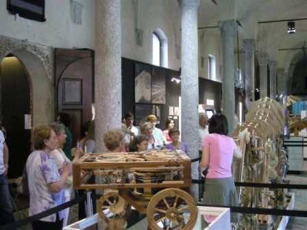 Il gruppo fra i modellini di Leonardo, in castello
