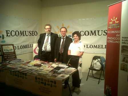 Il presidente della Provincia di Pavia, Vittorio Poma, fra i nostri soci Giuliano Sacchi ed Elena Signorelli