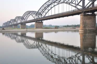 Il ponte sul Po della Gerola (Sannazzaro, 6 ottobre 2018)