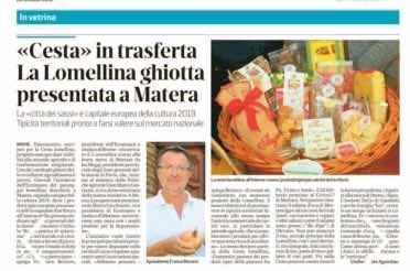 """""""Cesta"""" in trasferta, la lomellina ghiotta presentata a Matera"""